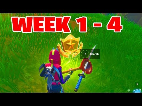 ALL Secret Battle Stars Season 10 - Fortnite Week 1 To 4 Locations (SEASON X)