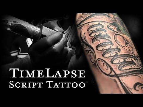 Time Lapse Script Tattoo