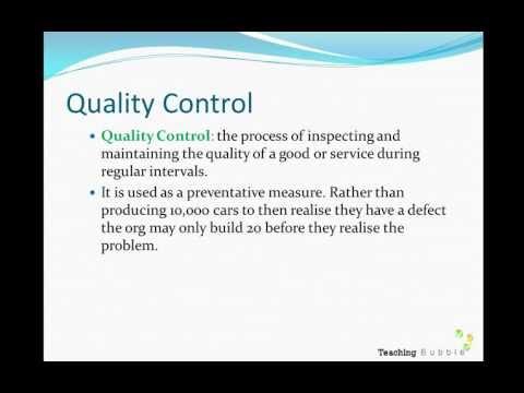 VCE Business Management Unit 3 - Quality Management