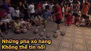 Thử Thách Bóng Đá Đỗ Kim Phúc và Duy Trung hóa Ronaldo xâu kim cả dàn cầu thủ nhí Việt Nam