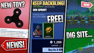 Free Backbling, Loot Lake Digging, Fidget Spinners, Sit Out Feature & More! (Fortnite News)