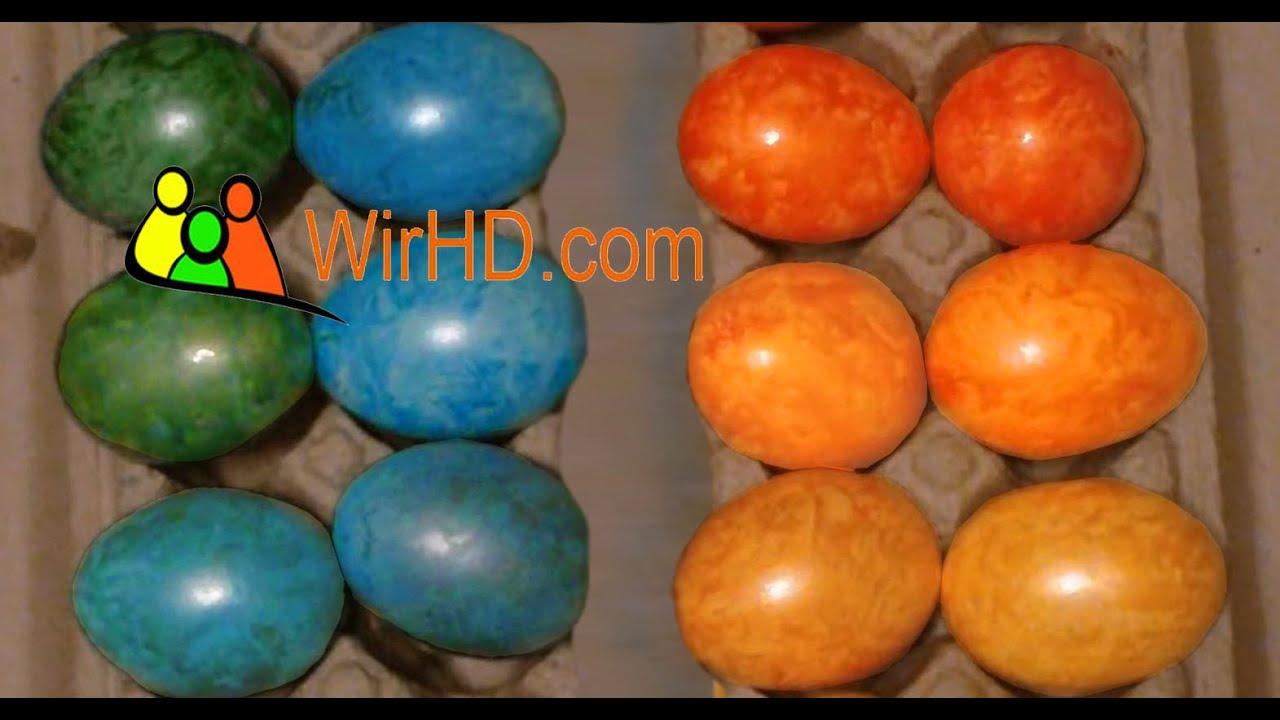 Ostereier - Eier färben, Coloring Easter Eggs, Basteln zu Ostern ...