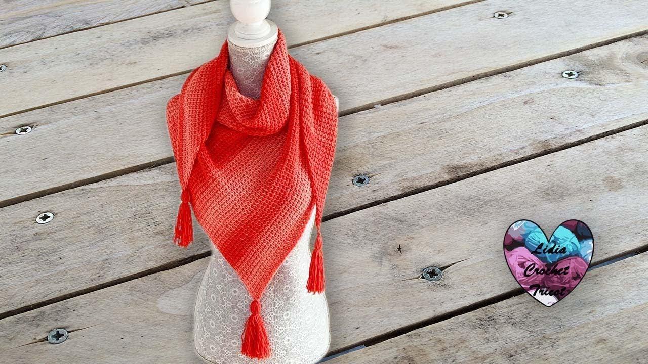 Châle Crochet Tunisien Facile Lidia Crochet Tricot