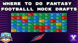 Where To Mock Draft- Fantasy Football 2019