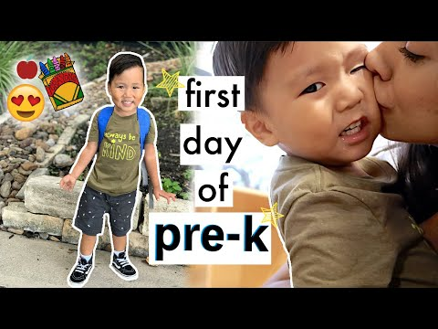 FIRST DAY OF PRE-K! | Mel And Shane