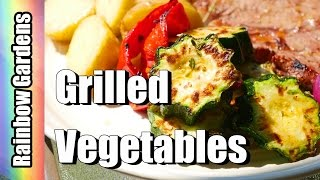 Grilled (or Oven Roast) Garden Veggies! Zucchini, Red Pepper, & Onion