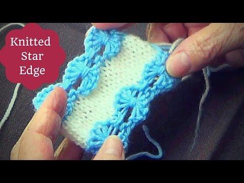 Knitted Star Edge -Knitting Edging