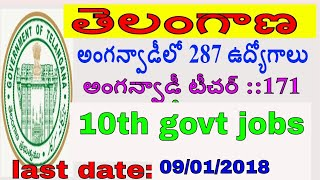 ts anganwadi notification 2017||ts anganwadi teacher, helper jobs in vikarabad|10th job search