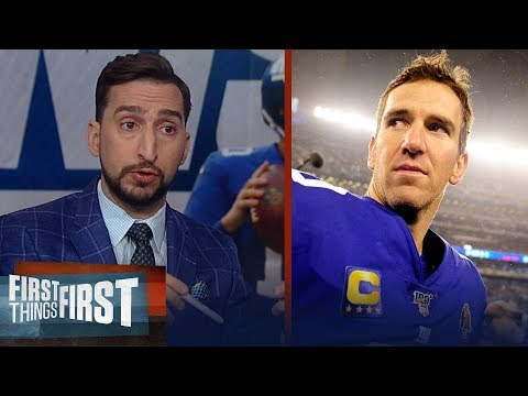 Eli Manning's got to be a Hall of Famer — Nick Wright on Eli's retirement | NFL | FIRST THINGS FIRST