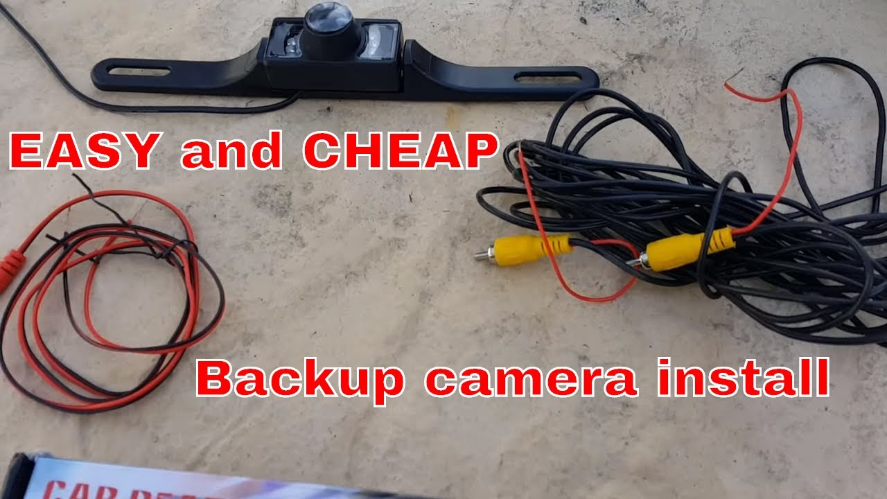 How To Install A Backup Camera On Dodge Ram Youtube 7 Pin Trailer Wiring Diagram 4 Wire