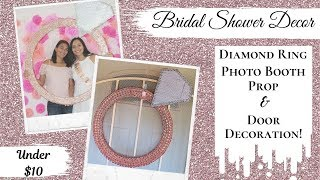 How To Make A Ring For A Bachelorette Party! DIY Bridal Shower Diamond Ring Decoration!