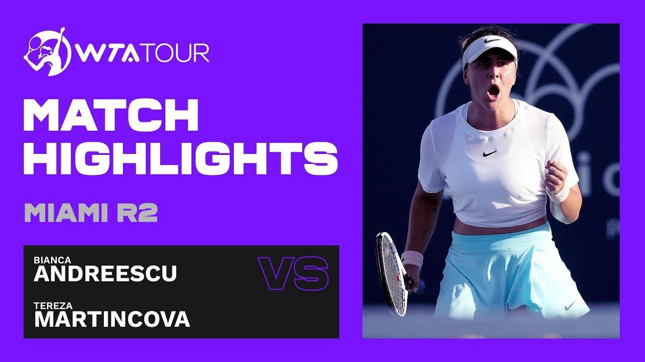 Bianca Andreescu vs. Tereza Martincova | 2021 Miami Round 2 | WTA Match Highlights