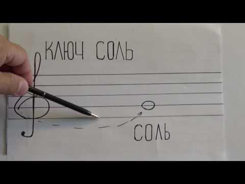Как нарисовать нотный стан с нотами