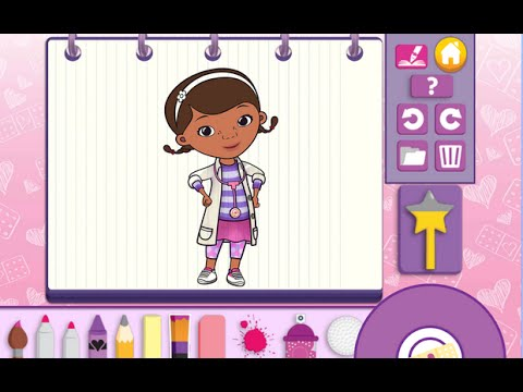 Doc McStuffins Color And Play Disney Junior Animated Coloring Book Paint 3D Games PART 2