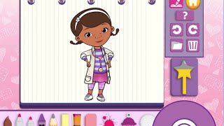 Doc McStuffins Color and Play Disney Junior Animated Coloring Book Paint 3D Color Games PART 2