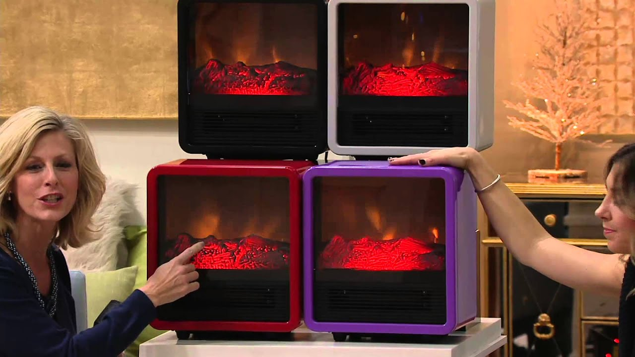 Marvelous Duraflame 1500W Small Portable Heater With Realistic Flame Effect On QVC    YouTube