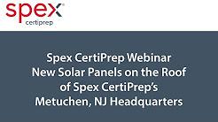 New Solar Panels on the Roof of SPEX CertiPrep's Metuchen, NJ Headquarters