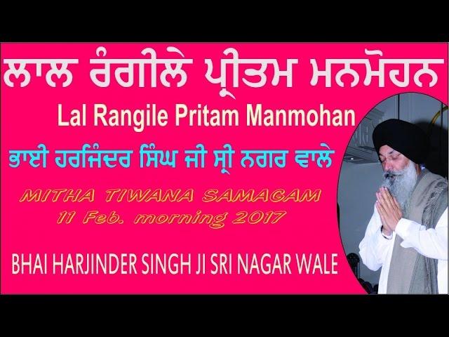 Lal Rangile Pritam Manmohan By Bhai Harjinder Singh Ji Sri Nagar Wale