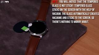WatchOut Smart Watch Screen Protector Tempered Glass Installation Guide
