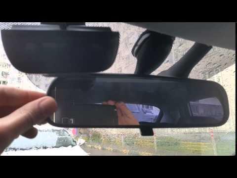 как снять зеркало заднего вида с лобового стекла kia ceed