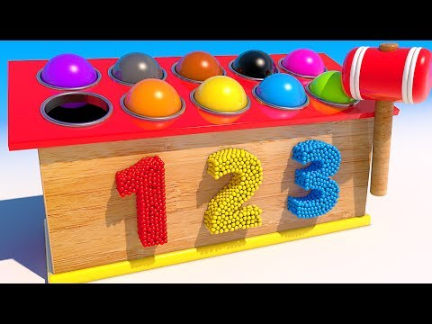 Thumbnail: Teach Colors with 3D Wooden Balls and Hammer