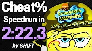 SpongeBob SquarePants: Battle for Bikini Bottom Cheat% Speedrun in 2:22.3 (WR on 4/4/2018)