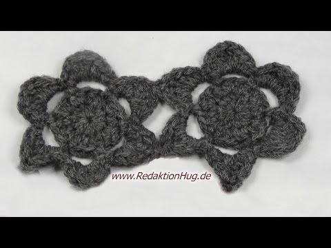 Häkeln - Blüten - Häkelblumen für Schal aus Teramo von Prolana ...
