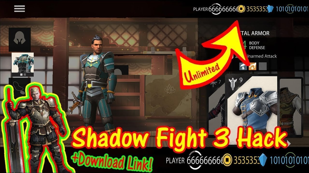 shadow fight 3 mod apk download unlimited money and gems