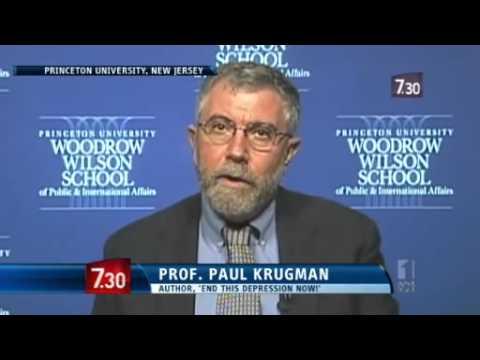 Nobel Prize winning Paul Krugman offers economic thoughts