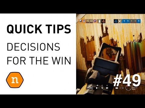 Quick tips #49 - Rethink & react to win games in Rainbow Six Siege