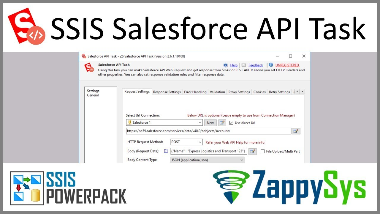 How to call Salesforce REST API in SSIS (JSON API)