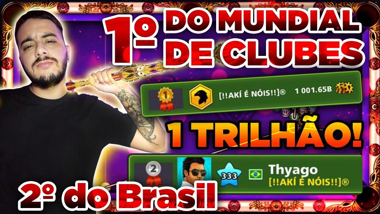 1° DO MUNDO COM 1 TRILHÃO DE GANHOS! A EQUIPE BRASILEIRA QUE MOSTROU COMO SE JOGA 8 BALL POOL!