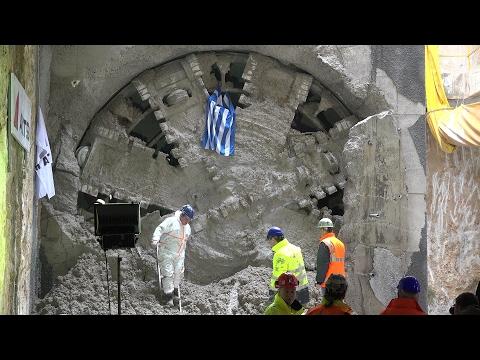 Η είσοδος του 1ου μετροπόντικα (TBM) στο σταθμό Ανάληψη - Θεσσαλονίκη [4K]