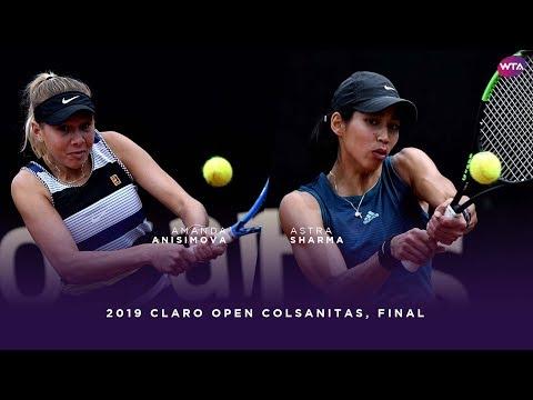 Amanda Anisimova vs. Astra Sharma | 2019 Claro Open Colsanitas Final | WTA Highlights