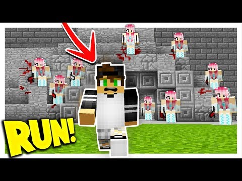 10 GIRLFRIENDS VS 1 BOYFRIEND! (Minecraft Murder Mystery Tro