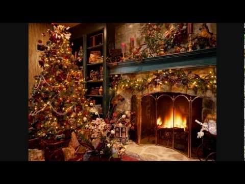 The Christmas Song-Nat King Cole with a cozy log cabin & fireplace ...