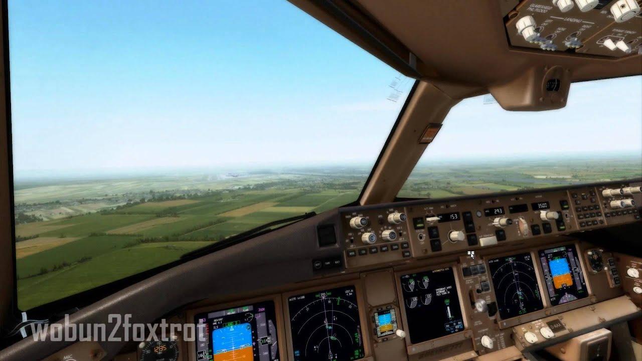 PMDG 777 Manual Landing at LOWW - FlightSim Planet
