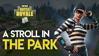 Fortnite: Battle Royale PS4 Gameplay | A STROLL IN THE PARK