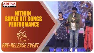 Nithiin Super Hit Songs Performance @ Bheeshma Pre Release Event | Nithiin, Rashmika