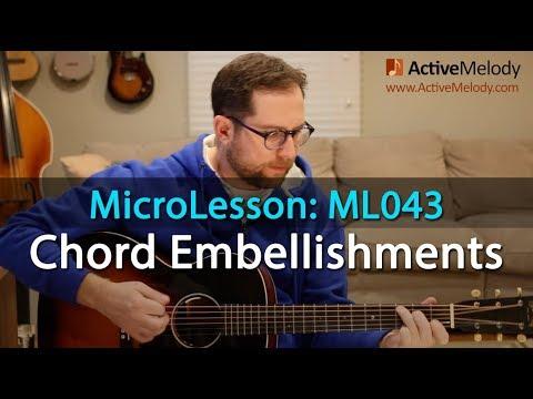 Rhythm Guitar Lesson Chord Embellishment Ideas Over A Simple Chord