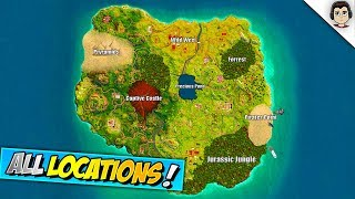 ALL 7 *NEW* SEASON 5 MAP NAMED LOCATIONS In Fortnite! Fortnite Season 5 Leaked Map Locations
