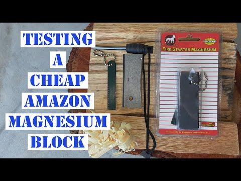 TESTING A CHEAP AMAZON MAGNESIUM FIRE STARTER!!
