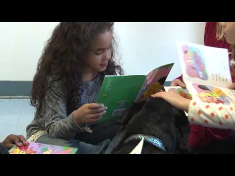 Dogs Encourage Reading at Alexander II Magnet School