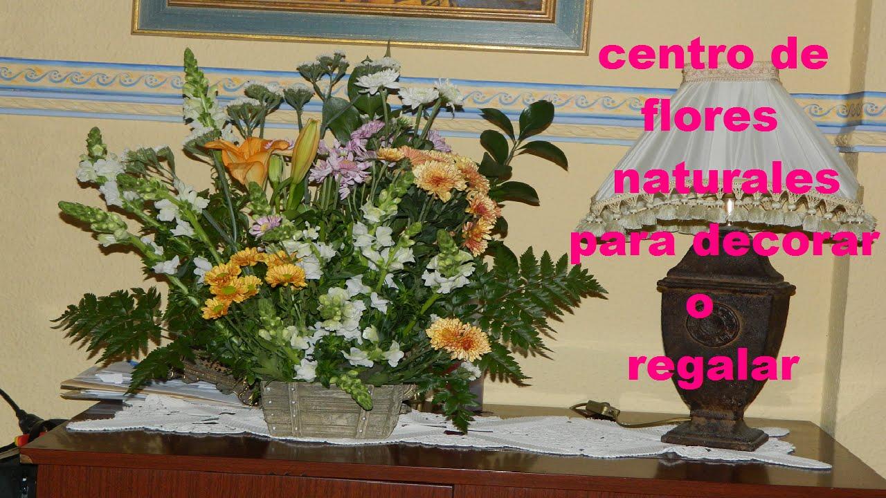 Diy para decorar centro de flores naturales para decorar o regalar youtube - Plantas pequenas para regalar boda ...