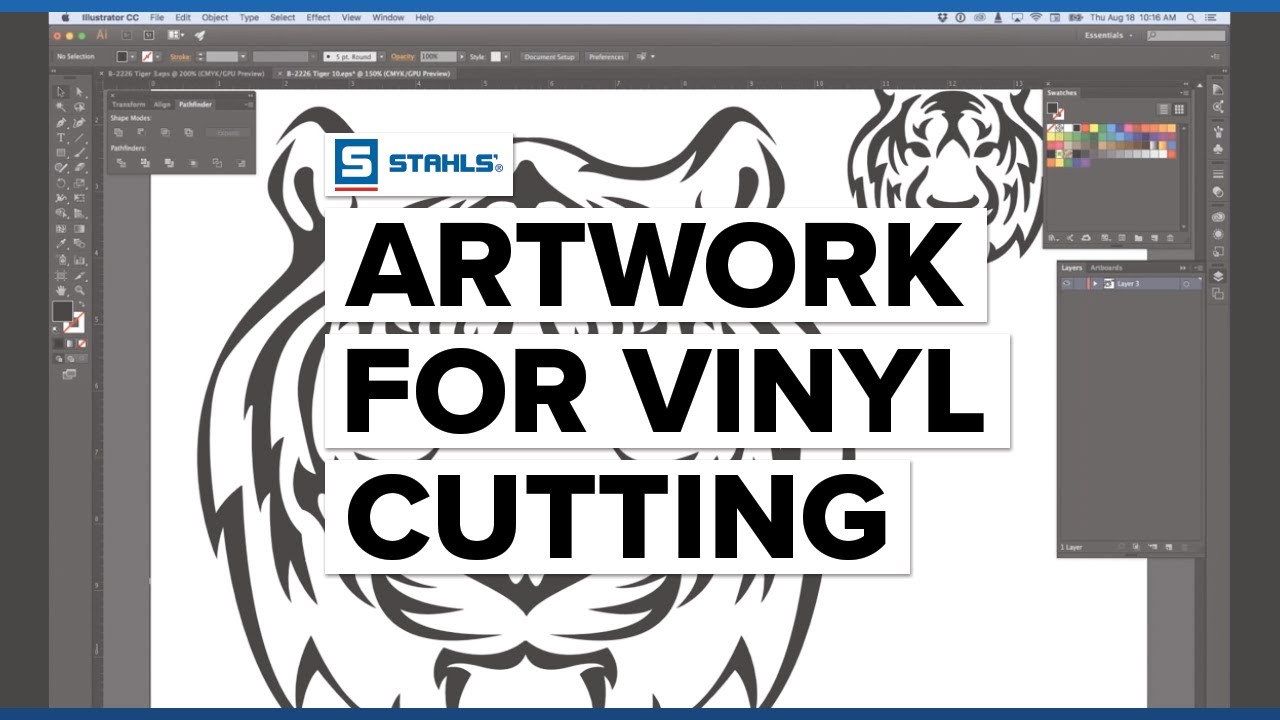 How To Create Artwork For Vinyl Cutting Adobe Illustrator Edition Youtube