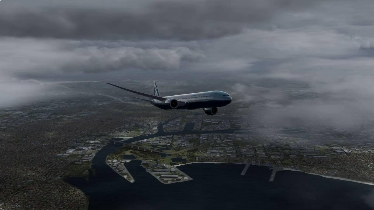 P3D V3 4 - Orbx YMML - PMDG 777 - AS16 Weather - Test - 4K