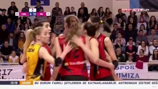 canakkale vs vakifbank   12 march 2017   turkish women s volleyball league 2016 2017