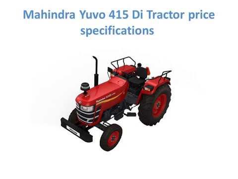 Mahindra 415 DI tractor on road price Specs Mileage [New 2019]
