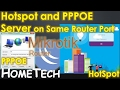 MikroTik hotspot and PPPOE server config on same interface port