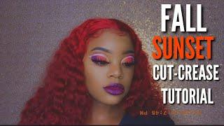 FALL SUNSET CUT-CREASE TUTORIAL🧡